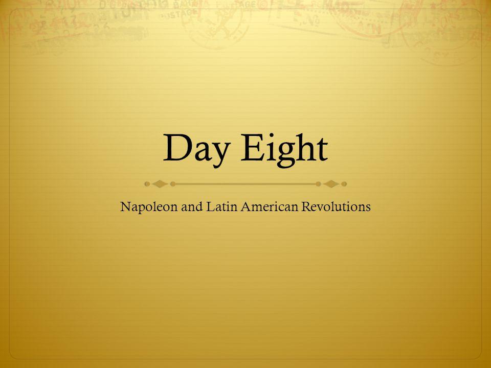 Napoleon and Latin American Revolutions