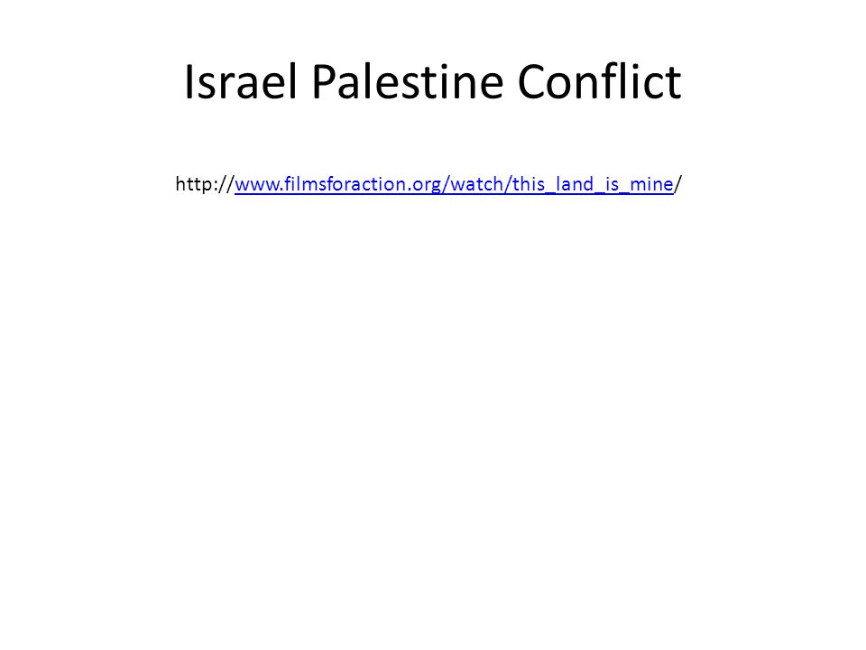Israel Palestine Conflict