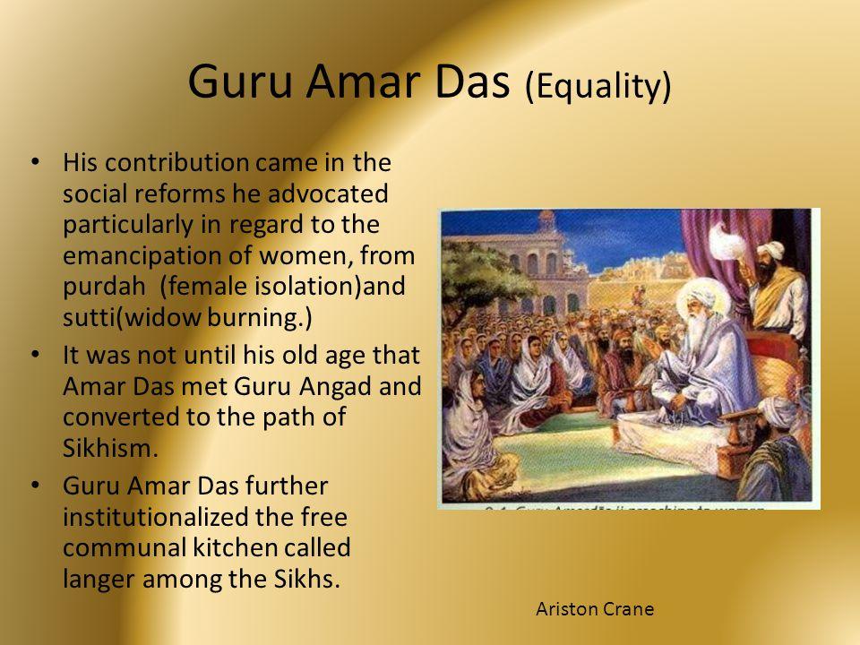 Guru Amar Das (Equality)