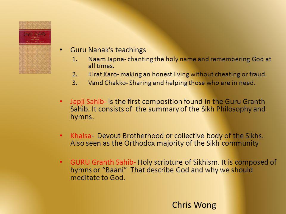 Chris Wong Guru Nanak's teachings