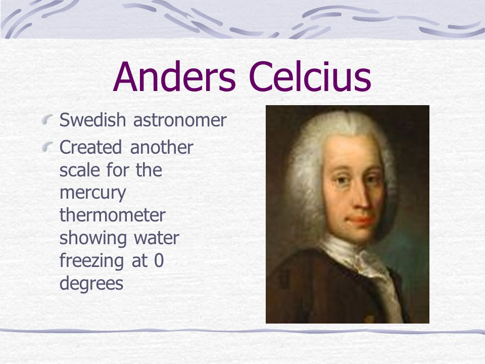 Anders Celcius Swedish astronomer