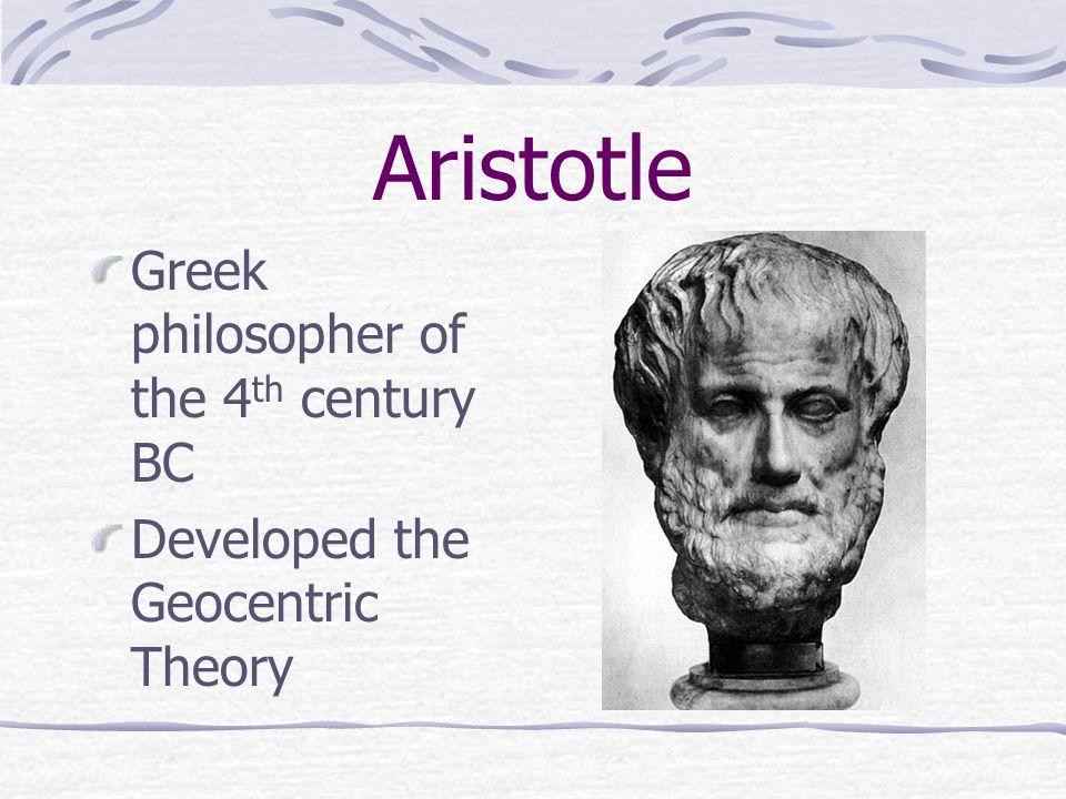 Aristotle Greek philosopher of the 4th century BC