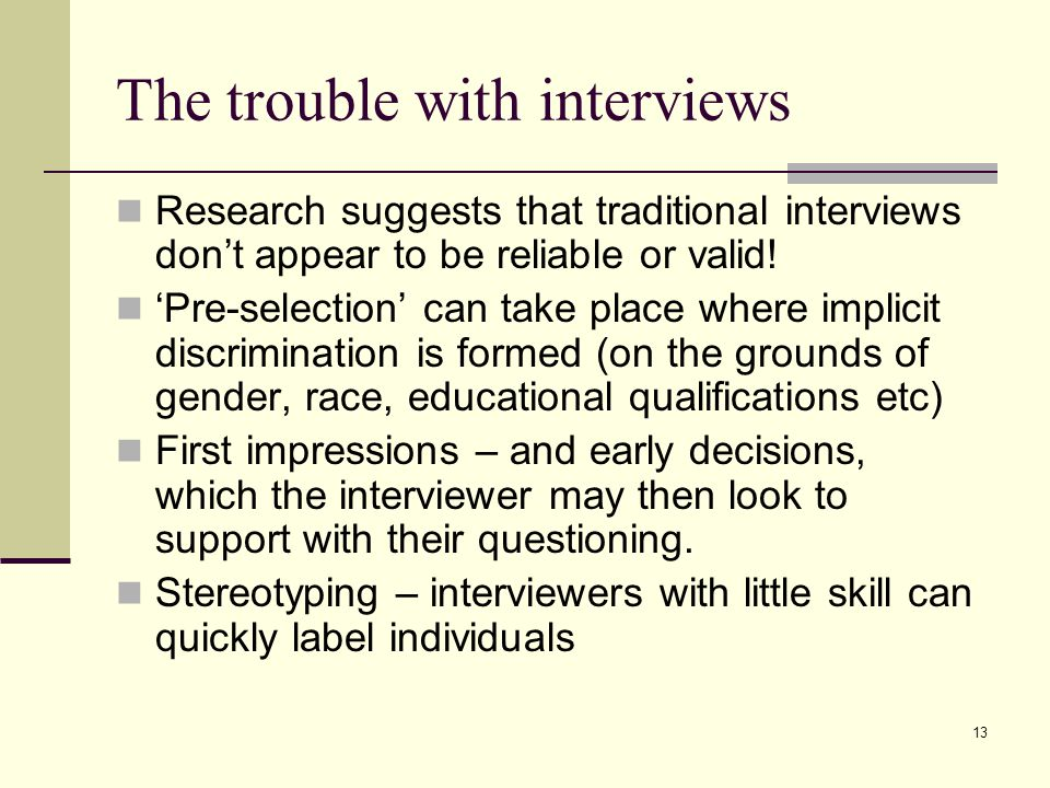 The trouble with interviews