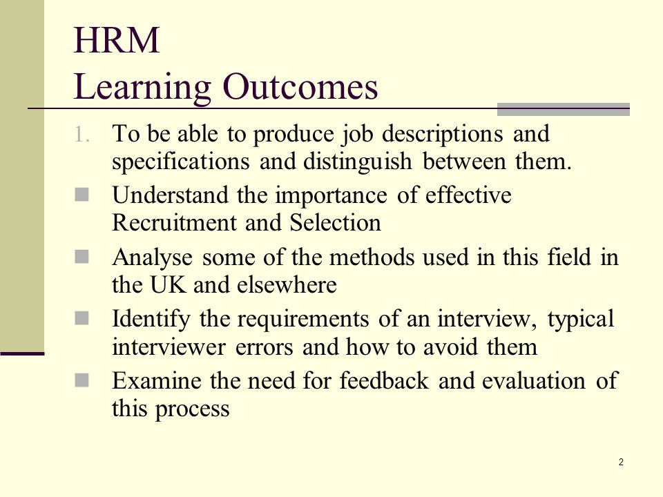 Human Resource Management - Ppt Video Online Download
