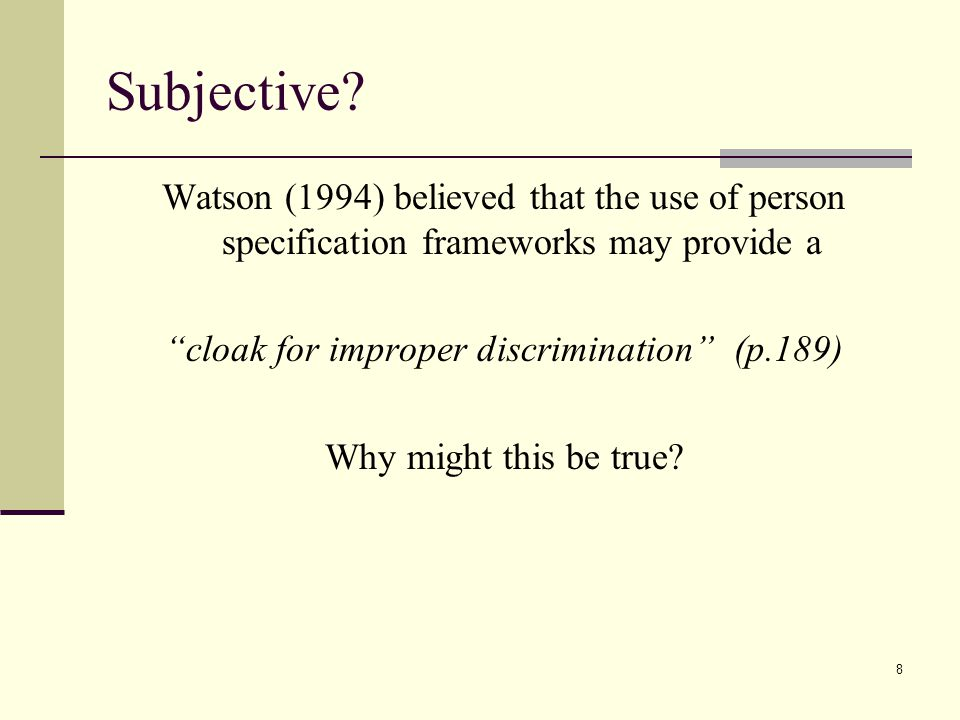 cloak for improper discrimination (p.189)
