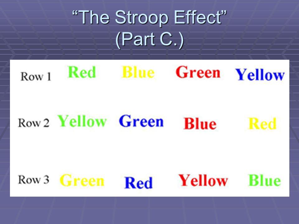 The Stroop Effect (Part C.)
