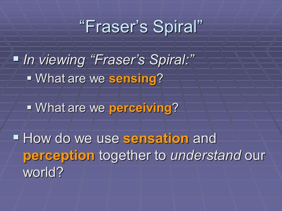 Fraser's Spiral In viewing Fraser's Spiral: