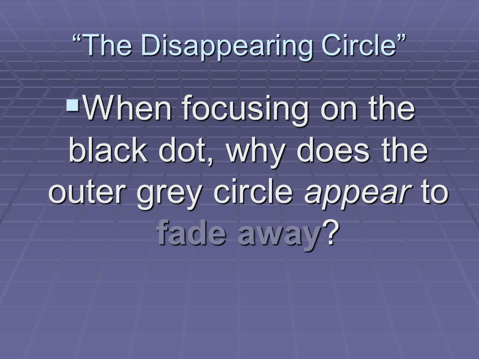 The Disappearing Circle