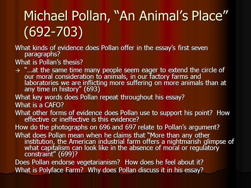 Michael Pollan, An Animal's Place (692-703)