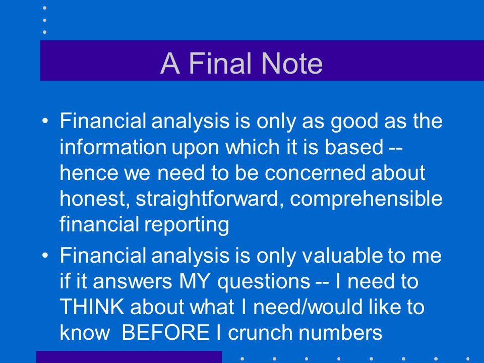 A Final Note