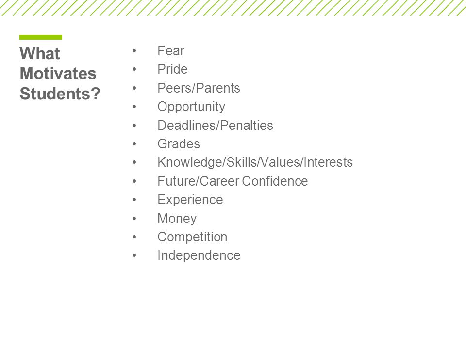 What Motivates Students