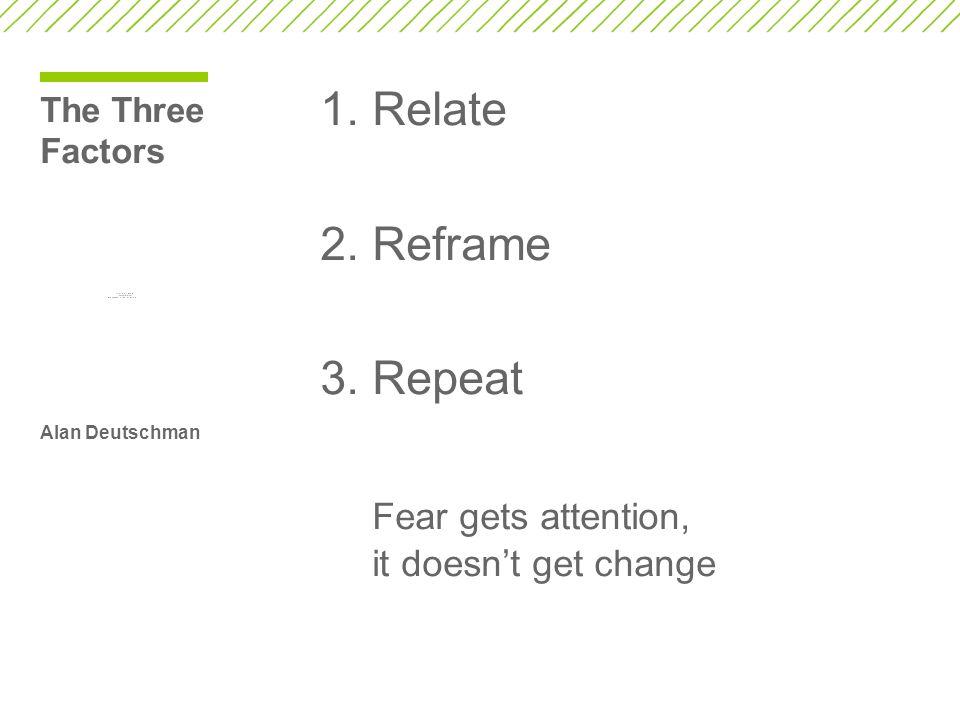 The Three Factors Alan Deutschman