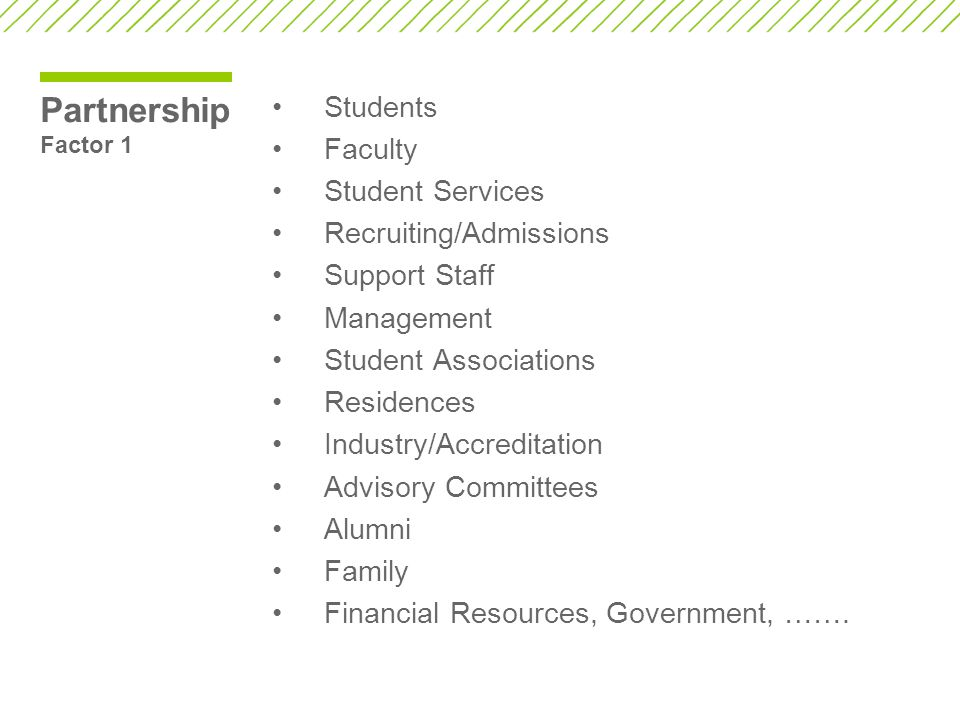 Partnership Factor 1 Students Faculty Student Services