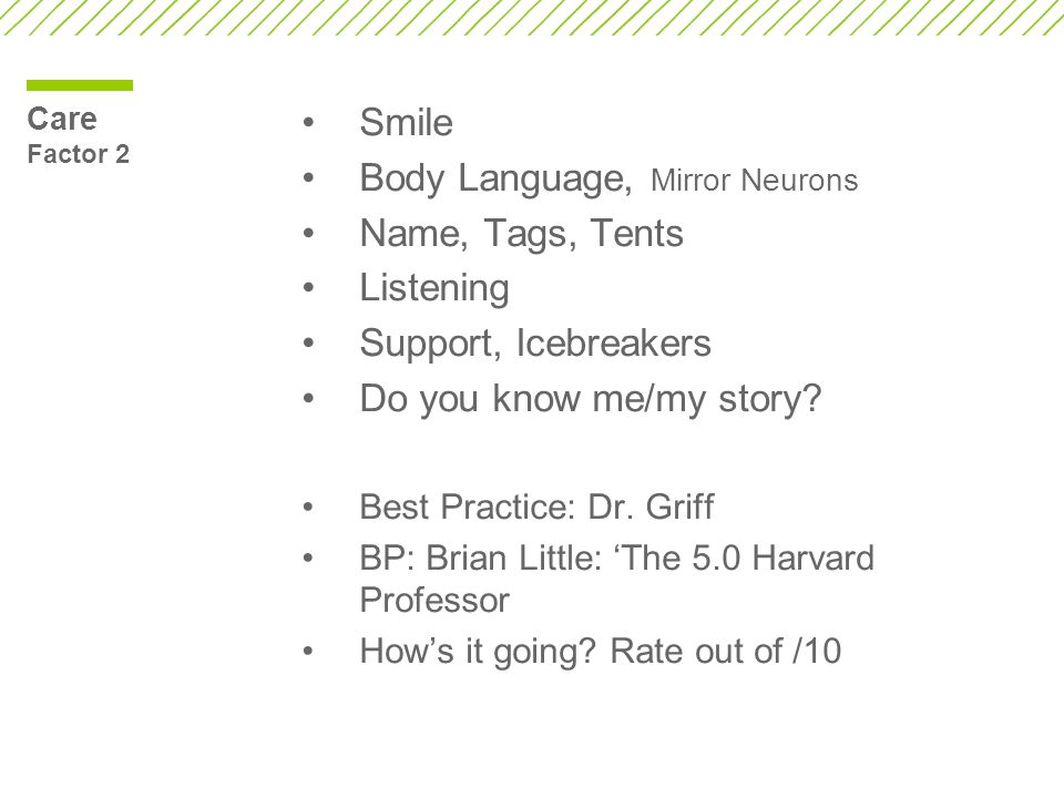 Body Language, Mirror Neurons Name, Tags, Tents Listening