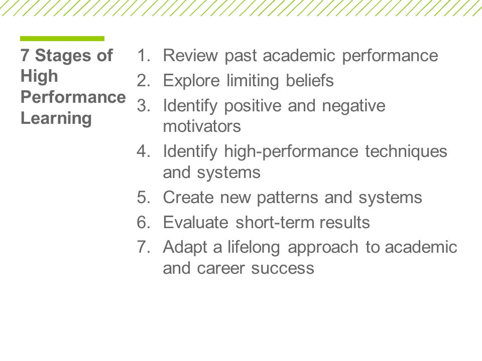 7 Stages of High Performance Learning
