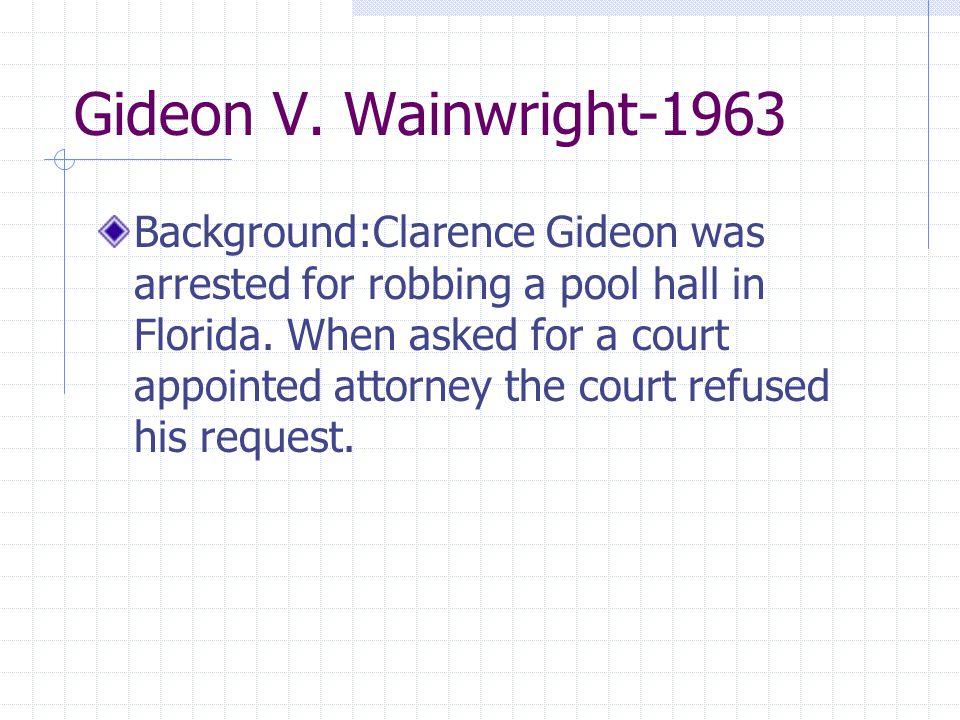 Gideon V. Wainwright-1963