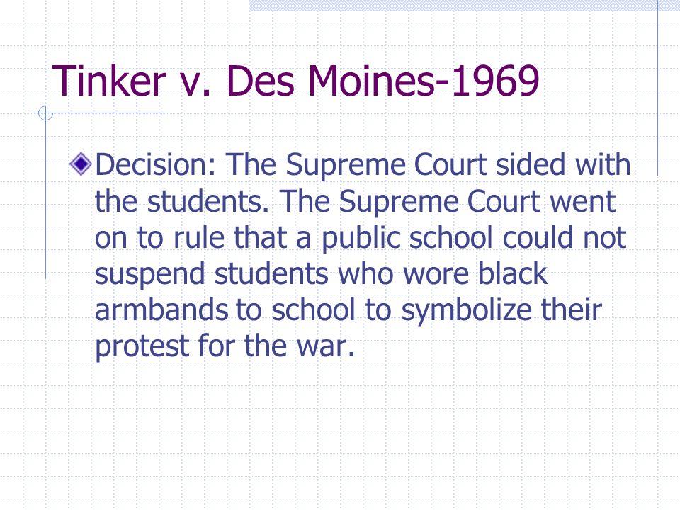 Tinker v. Des Moines-1969