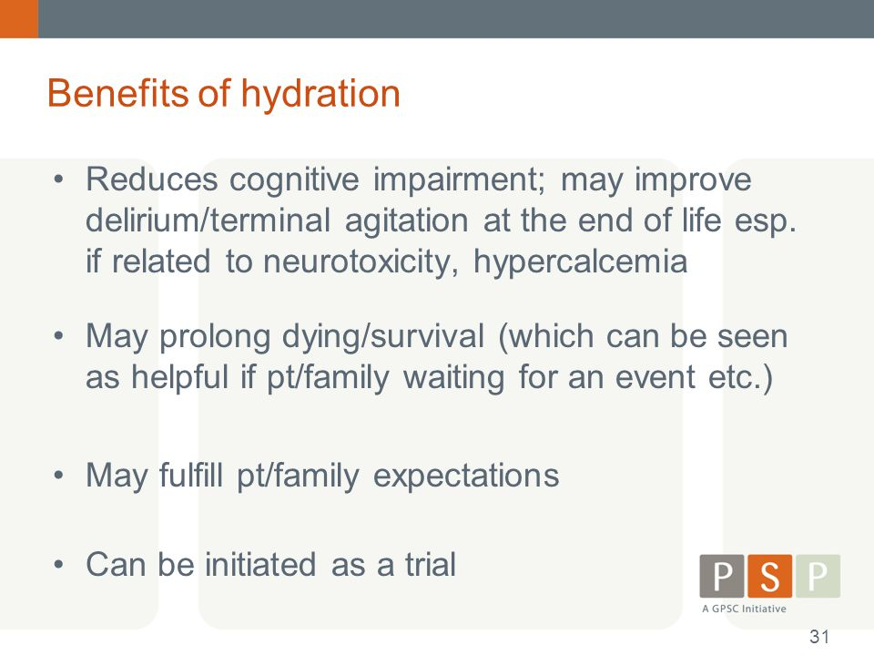 Benefits of hydration