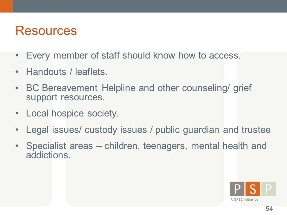 Resources Every member of staff should know how to access.