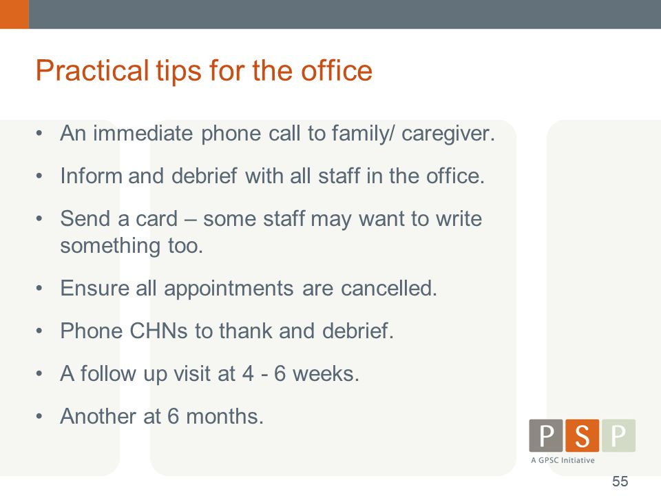 Practical tips for the office