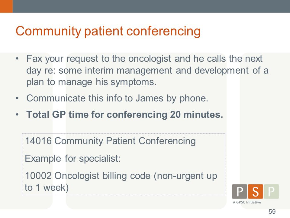 Community patient conferencing