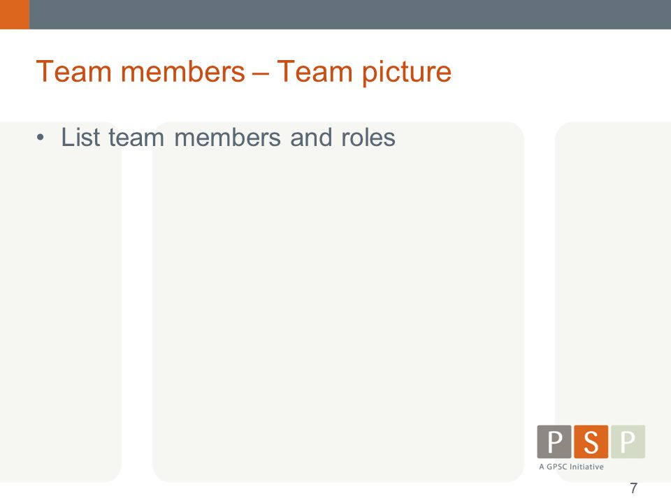 Team members – Team picture