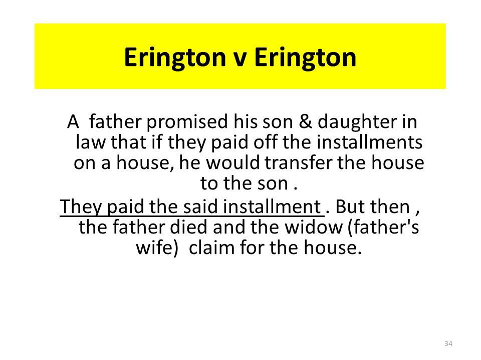 Erington v Erington
