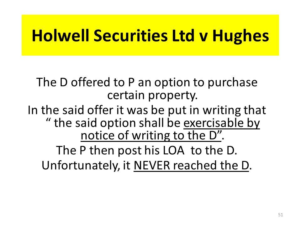 Holwell Securities Ltd v Hughes
