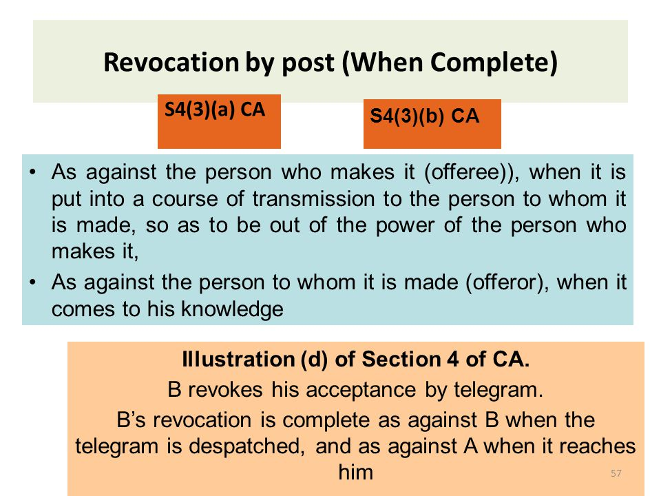 Revocation by post (When Complete)