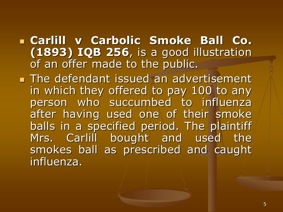 Carlill v Carbolic Smoke Ball Co