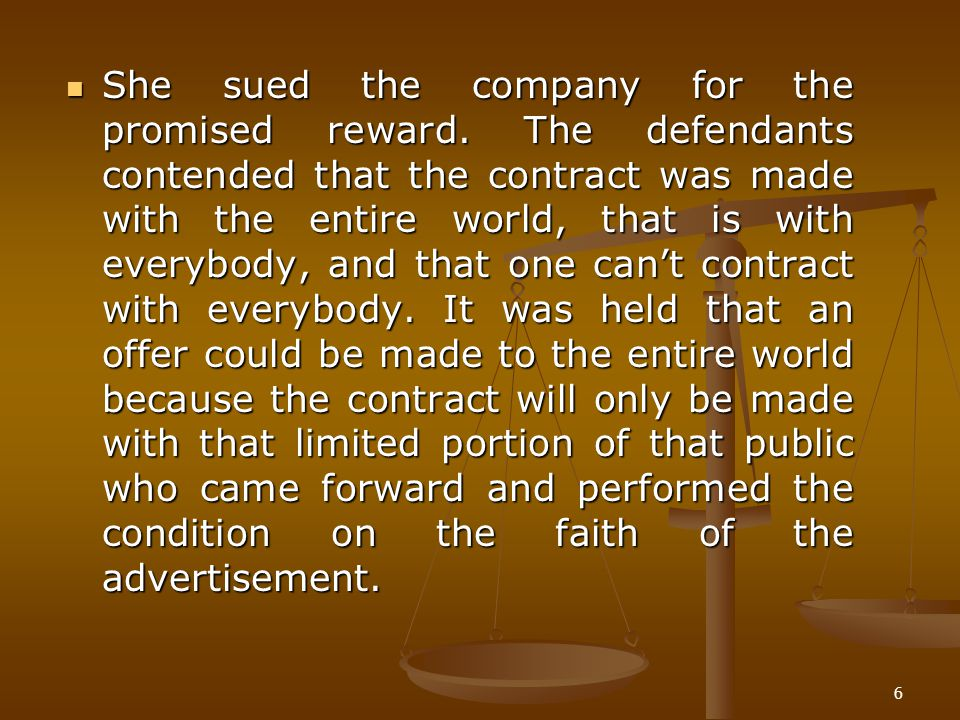 She sued the company for the promised reward