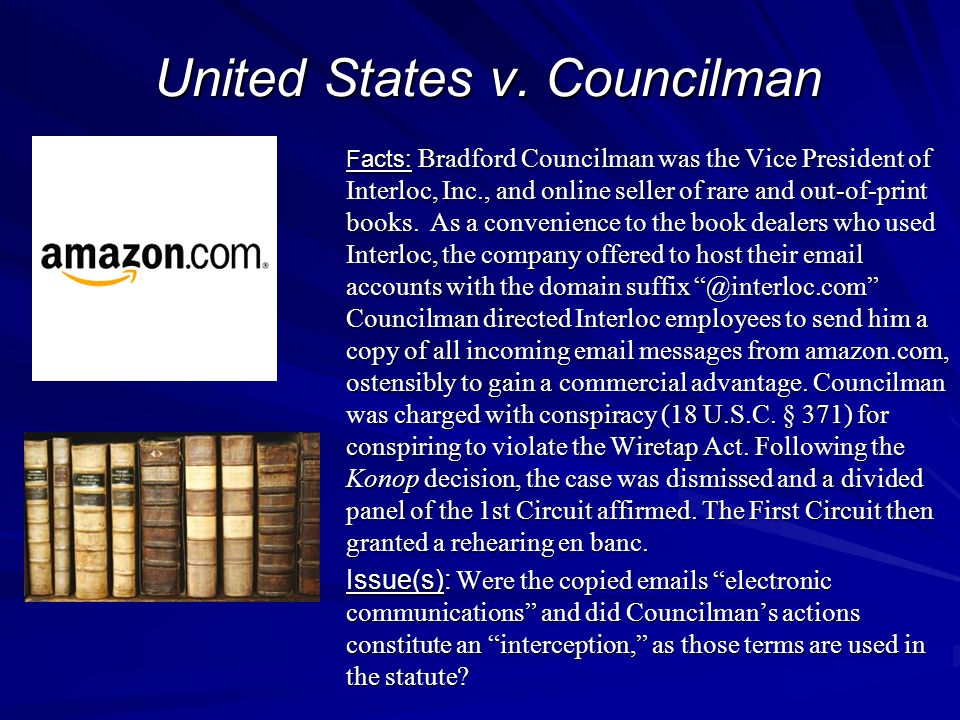 United States v. Councilman