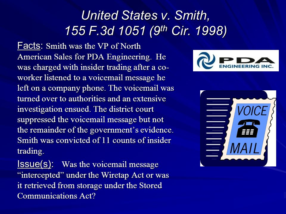 United States v. Smith, 155 F.3d 1051 (9th Cir. 1998)