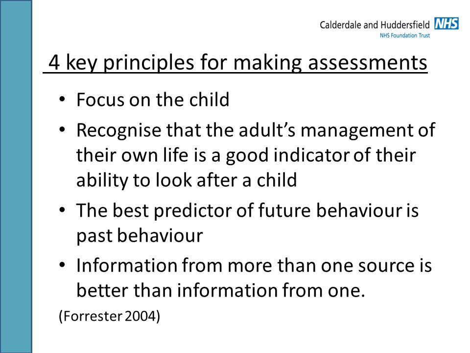 4 key principles for making assessments