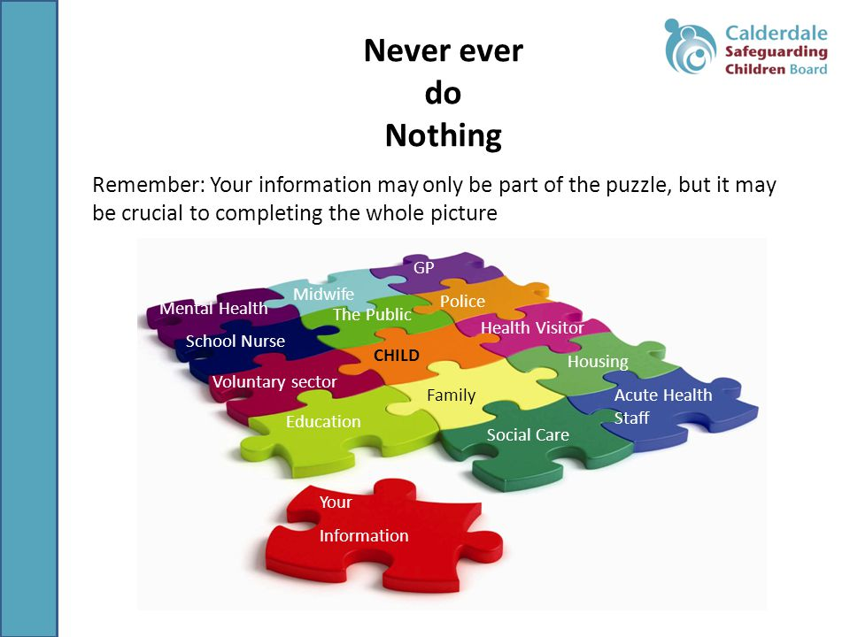Never ever do. Nothing. Remember: Your information may only be part of the puzzle, but it may be crucial to completing the whole picture.