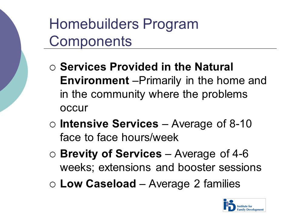 Homebuilders Program Components