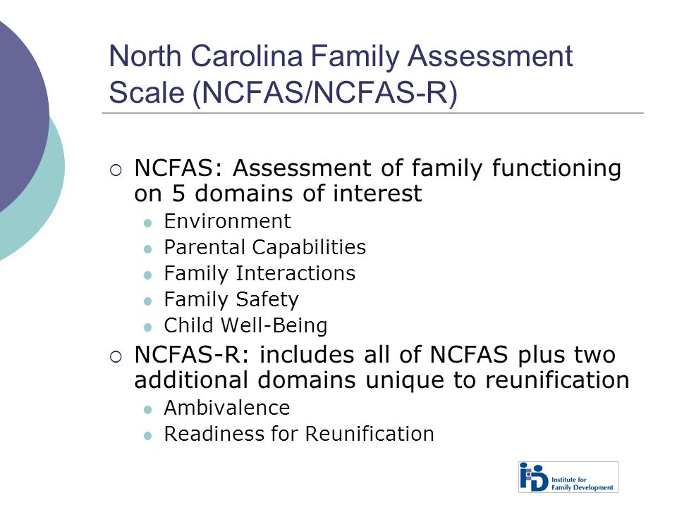 North Carolina Family Assessment Scale (NCFAS/NCFAS-R)