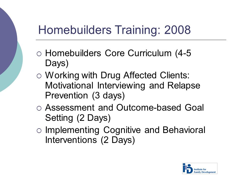 Homebuilders Training: 2008