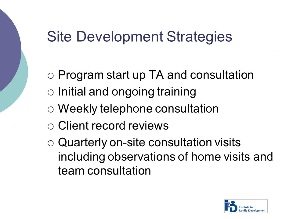 Site Development Strategies