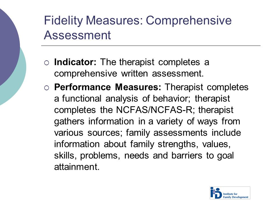 Fidelity Measures: Comprehensive Assessment