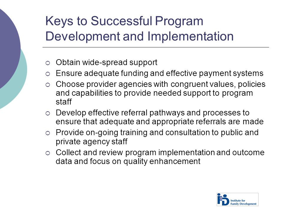 Keys to Successful Program Development and Implementation