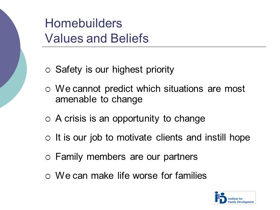 Homebuilders Values and Beliefs