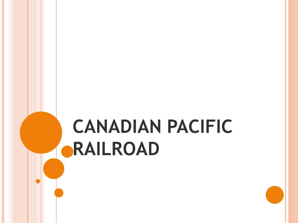 CANADIAN PACIFIC RAILROAD