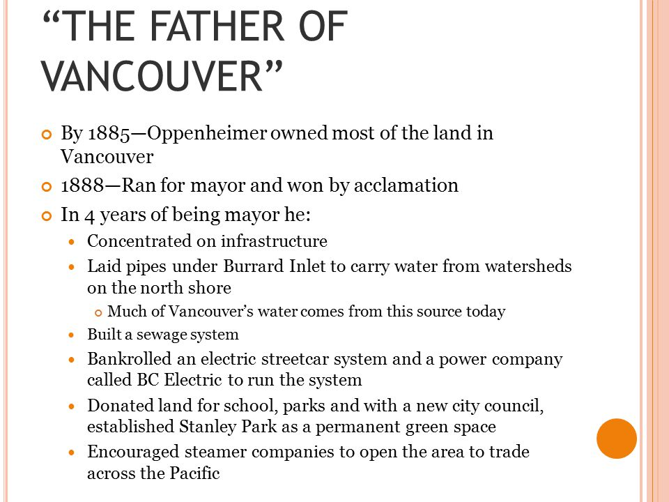 THE FATHER OF VANCOUVER