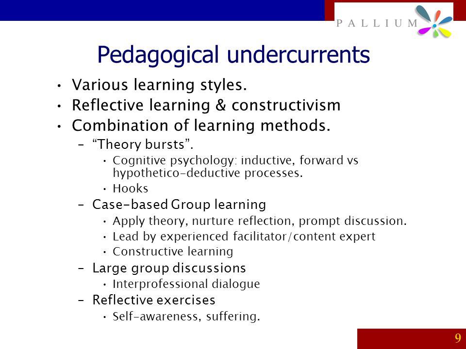 Pedagogical undercurrents