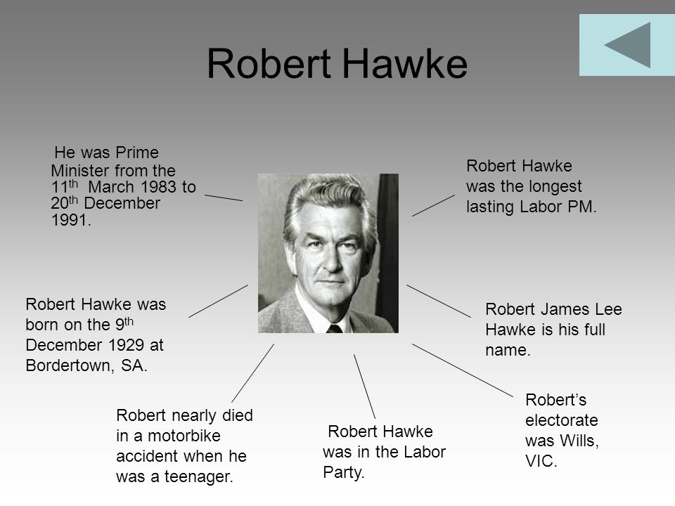 Robert Hawke He was Prime Minister from the 11th March 1983 to 20th December 1991. Robert Hawke was the longest lasting Labor PM.