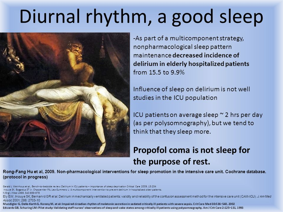 Diurnal rhythm, a good sleep