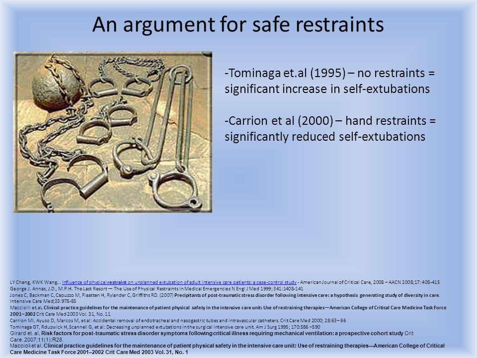 An argument for safe restraints