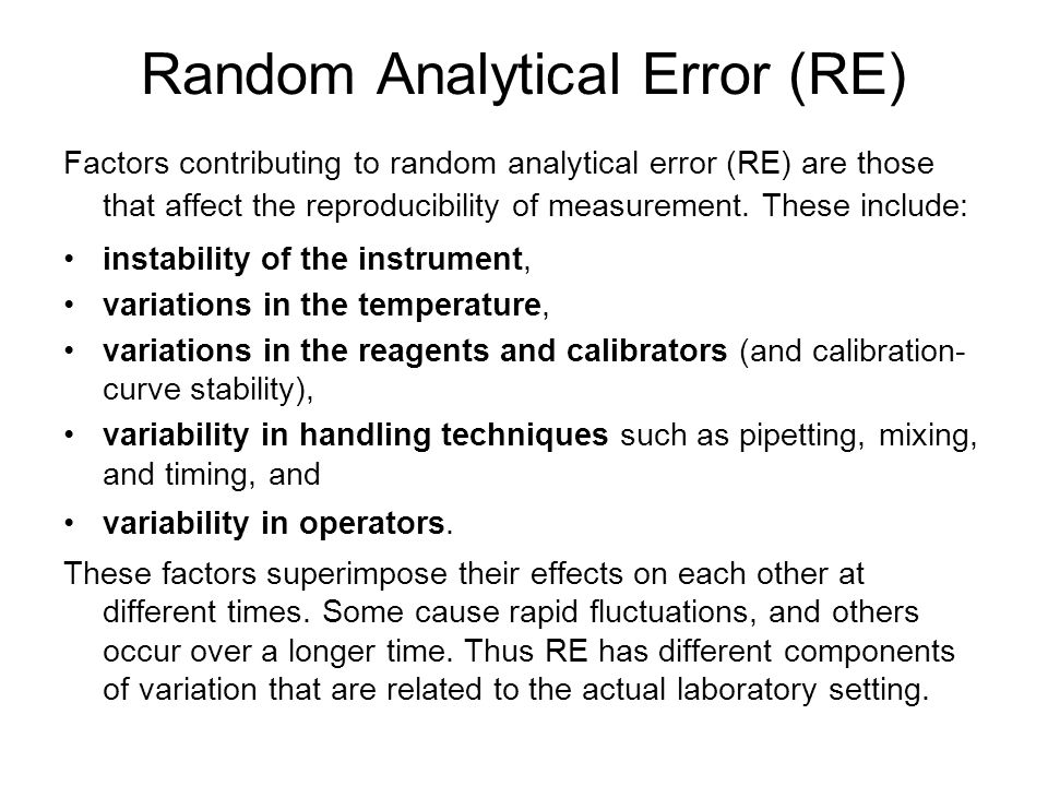 Random Analytical Error (RE)