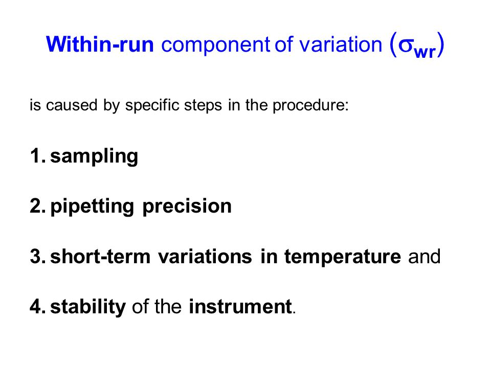 Within-run component of variation (wr)